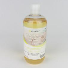 NAKER aceite de masaje con esencia de limón